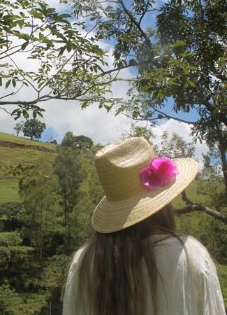 Chapéu Orquídea Rosa