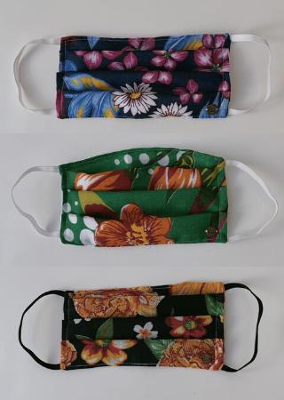 Kit 3 Máscaras Florais