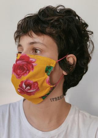 Máscara Floral Amarela