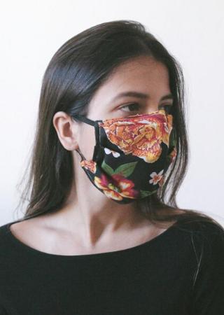 Máscara Floral Preta