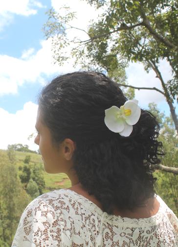 Presilha Orquídea Branca