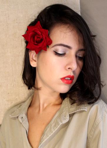 Presilha Rosa Vermelha