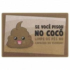 Capacho Em Vinil Dr. Pepper Pisou No Coco - 60 X 40