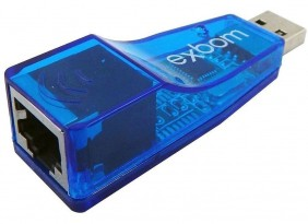 ADAPTADOR PLACA REDE USB 2.0 UL-100 EXBOM