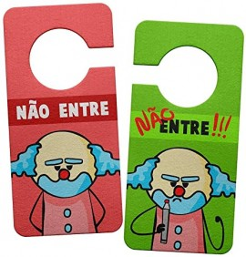 AVISO DE PORTA ECOLÓGICO DR. PEPPER PAIAÇO - NUNCA ENTRE