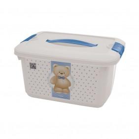 Caixa de Plástico 5.2 L com Alça e Trava Urso Plasutil