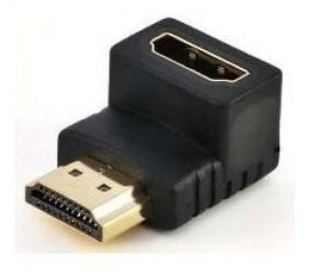 CONECTOR HDMI MACHO FÊMEA 90 GRAUS