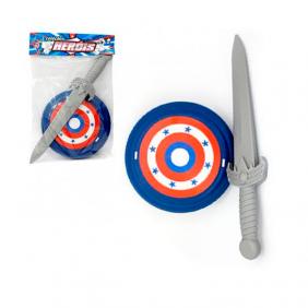Kit Espada com Escudo Coleção Heróis