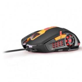 Mouse Gamer 2400DPI Preto e Laranja MO270 Multilaser