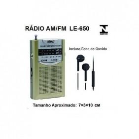 Rádio Com AM e FM LE-650 Lelong