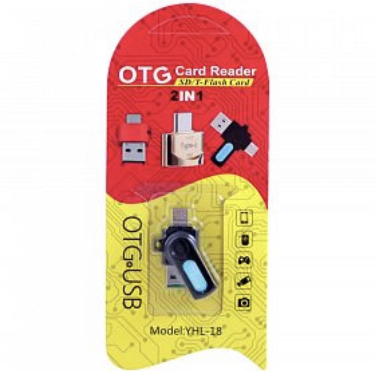 Adaptador Smartphone OTG 2 em 1 YHL-18