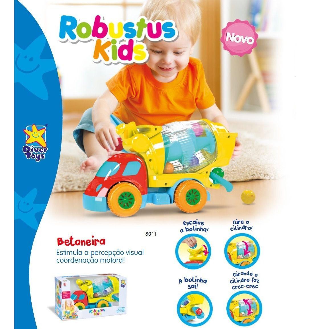BETONEIRA DE BOLINHAS ROBUSTUS KIDS 8011 DIVER TOYS