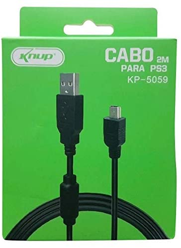 Cabo Carregador Controle Vídeo Game Ps3 - 2 Metros KP-5059