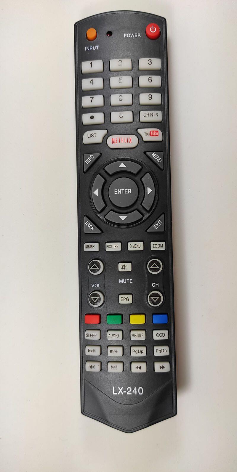 CONTROLE SMART TV TOSHIBA LX-240
