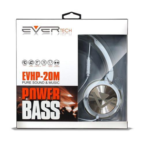 Headphone DJ Com Fio Evertech EVHP-20M