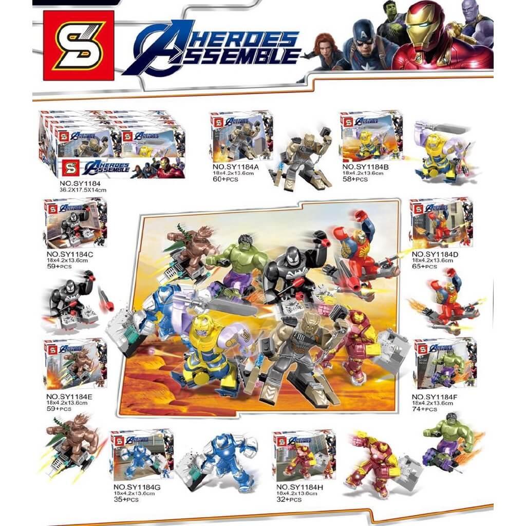 HEROES ASSEMBLE ESTILO LEGO