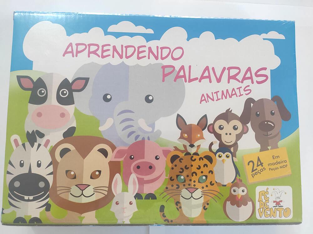 JOGO APRENDENDO PALAVRAS ANIMAIS 75 PÉ DE VENTO