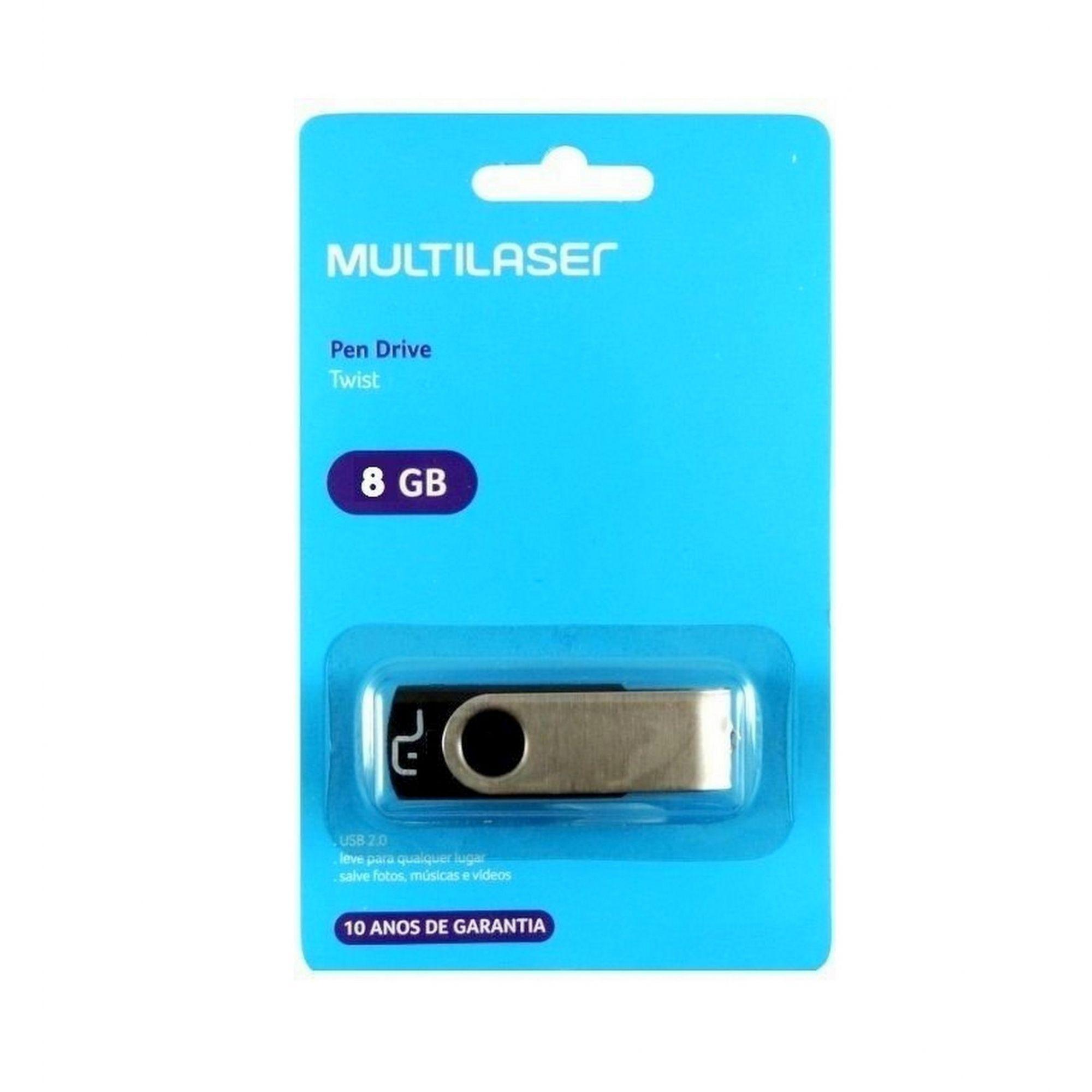 PENDRIVE TWIST PD587 8GB MULTILASER