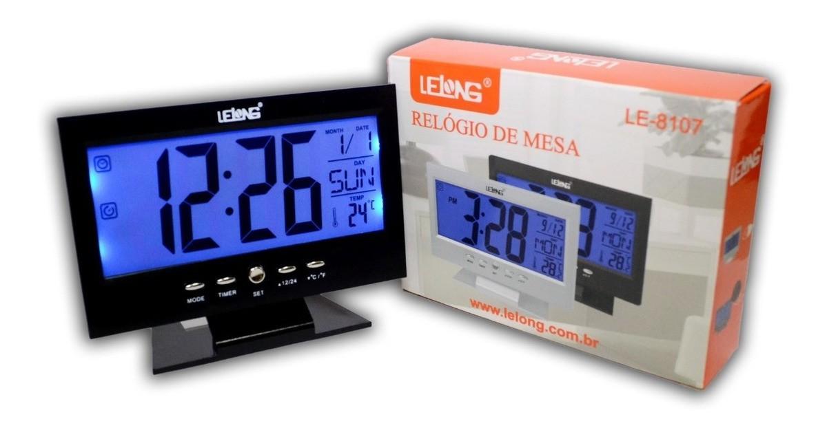 RELÓGIO DE MESA DIGITAL LE-8107 LELONG