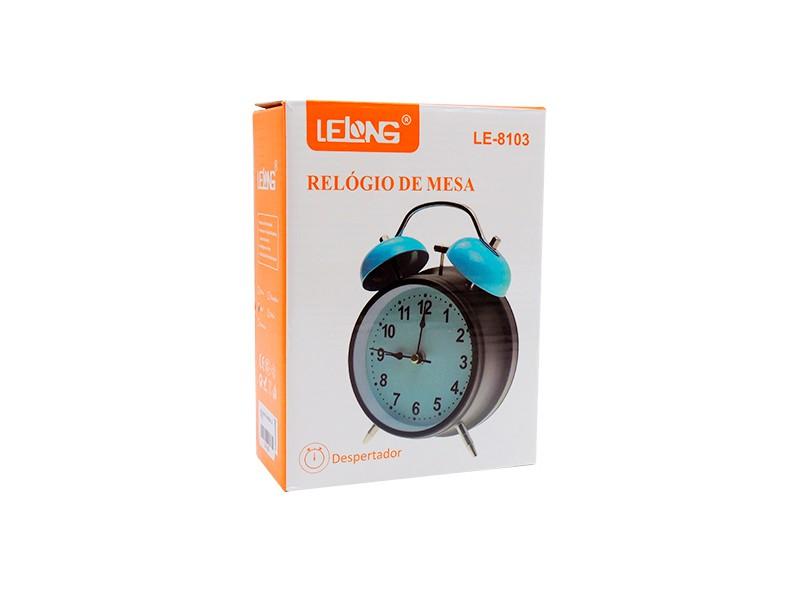 RELÓGIO DESPERTADOR LE-8103 LELONG