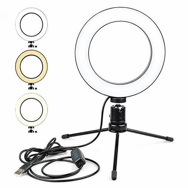 Ring light de mesa LD-D6