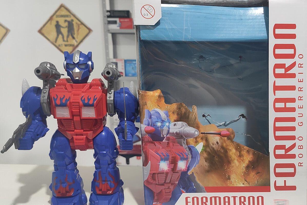 Robô Guerreiro Formatron com Luz e Som MT-0130