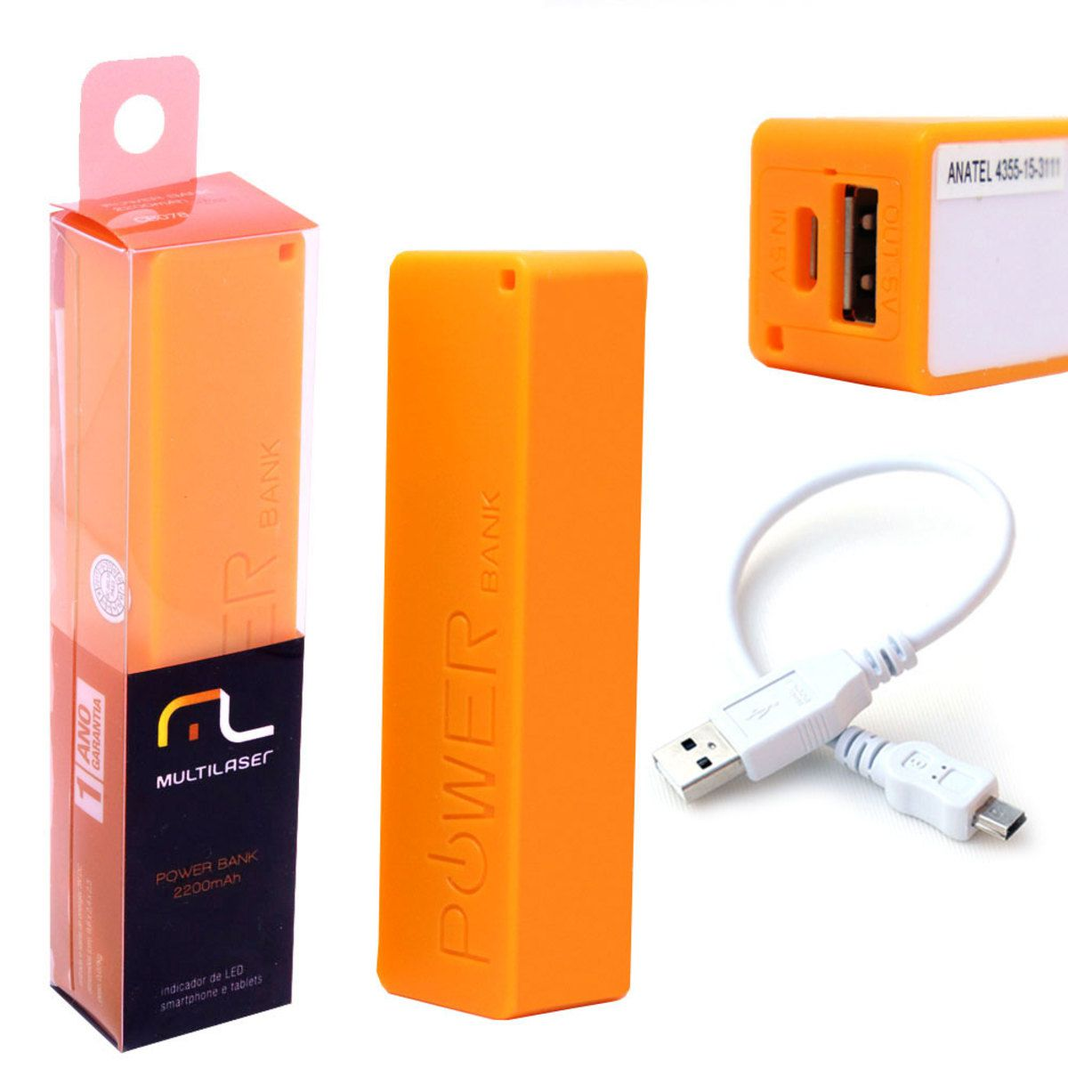 SmartoGo Power bank 2200MAH CB078 Multilaser