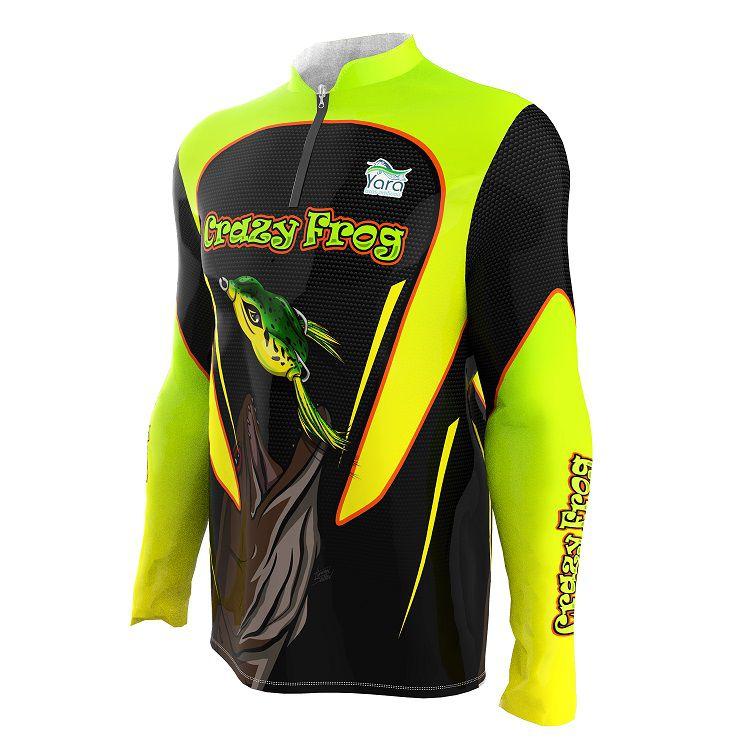 Camisa de Pesca - Estampa Crazy Frog