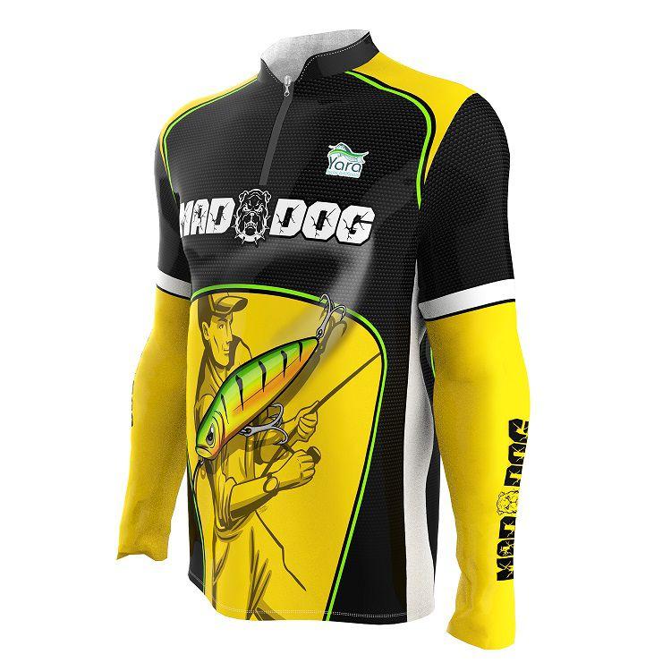 Camisa de Pesca - Estampa Mad Dog
