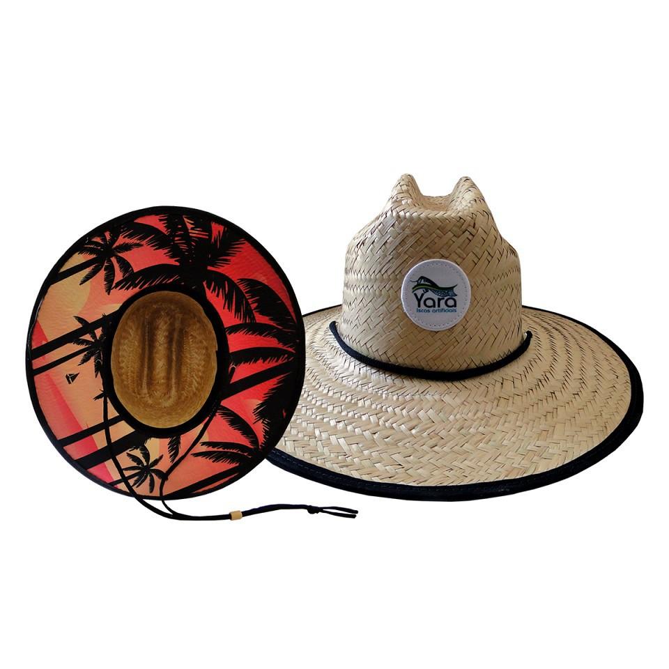 Chapéu de Palha - Estampa Coqueiros
