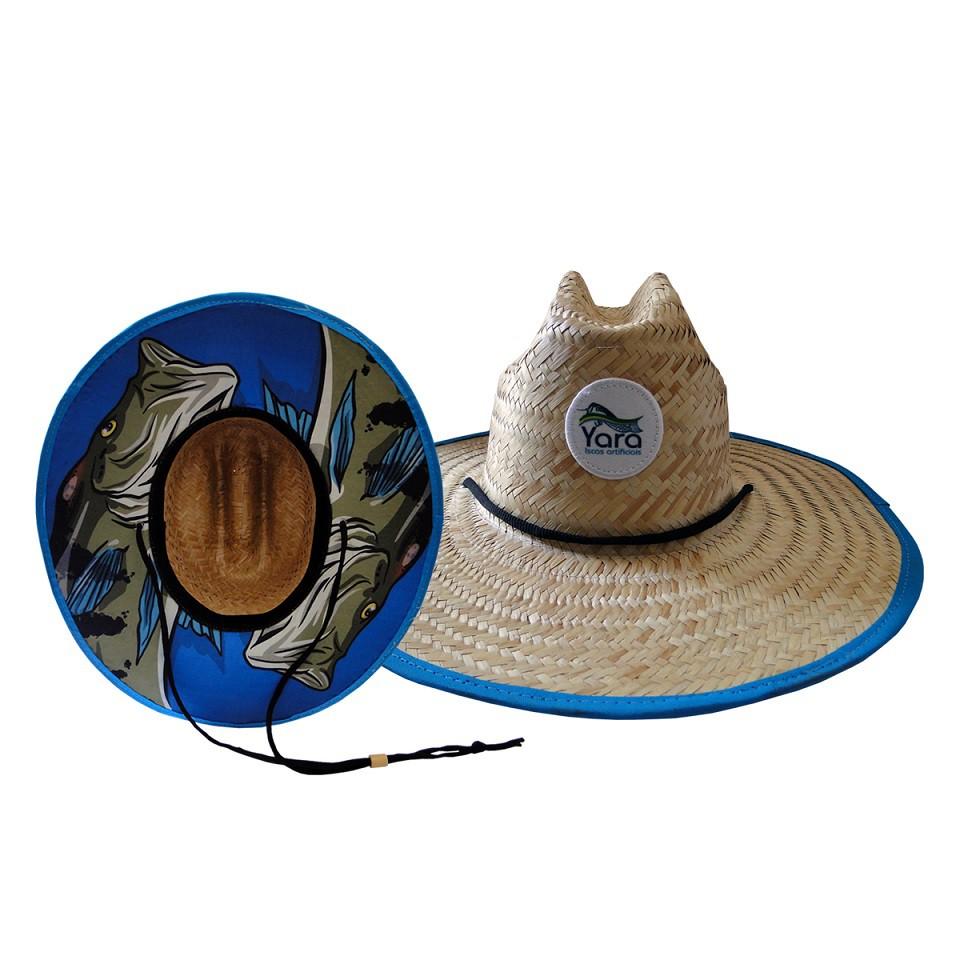 Chapéu de Palha - Estampa Tucunaré Azul