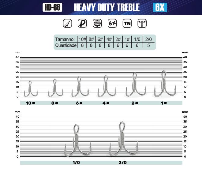 Garatéia HD66TN - 6X - Tamanho 10