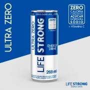 LIFE STRONG ENERGY DRINK ULTRA ZERO - TRADICIONAL - PACK COM 24