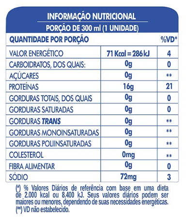 LIFE H2O PROTEIN DRINK -  BLUEBERRY  - PACK COM 6