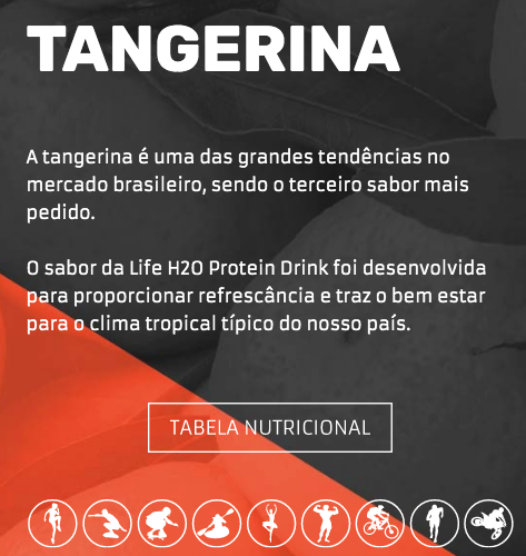 LIFE H2O PROTEIN DRINK  - TANGERINA  - PACK COM 6