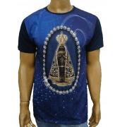Camiseta Aparecida Marinho Bordada