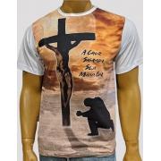Camiseta Cruz Sagrada Branca