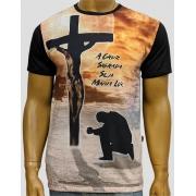 Camiseta Cruz Sagrada Preta