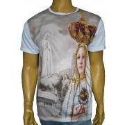 Camiseta Fatima Coroa Bordada