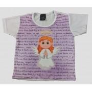 Camiseta Infantil Anjinha Lilás