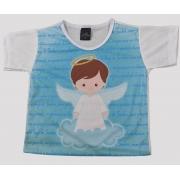 Camiseta Infantil Anjinho Azul