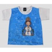 Camiseta Infantil Aparecidinha Azul