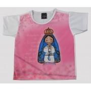Camiseta Infantil Aparecidinha Rosa