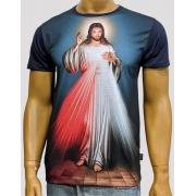 Camiseta Jesus Misericordioso Marinho