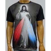 Camiseta Jesus Misericordioso Preto