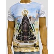 Camiseta Nossa Senhora Aparecida Basilica Céu Azul