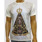 Camiseta Nossa Senhora Aparecida Crom Color Bordada