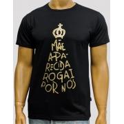 Camiseta Nossa Senhora Aparecida Rogai Por Nós Preta