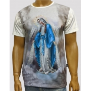 Camiseta Nossa Senhora das Graças Lateral Bordada