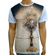 Camiseta Ostensório Dourado Bordada